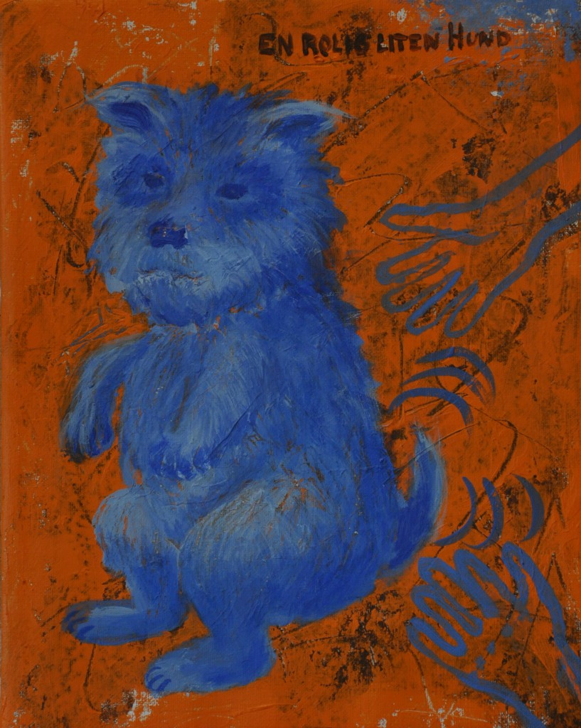 Målning, hund, Marie Åström