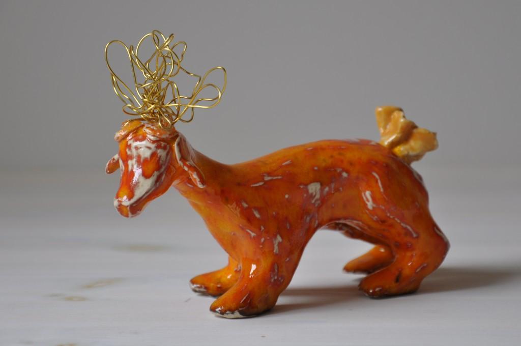 Djur i keramik, glaserad