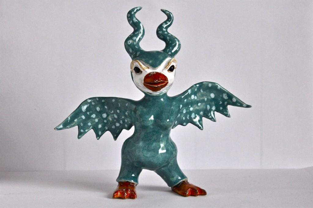 Skulptur i glaserad keramik